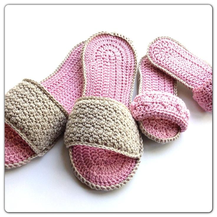 Spa Slippers Free Tutorial shoes crochet Pinterest