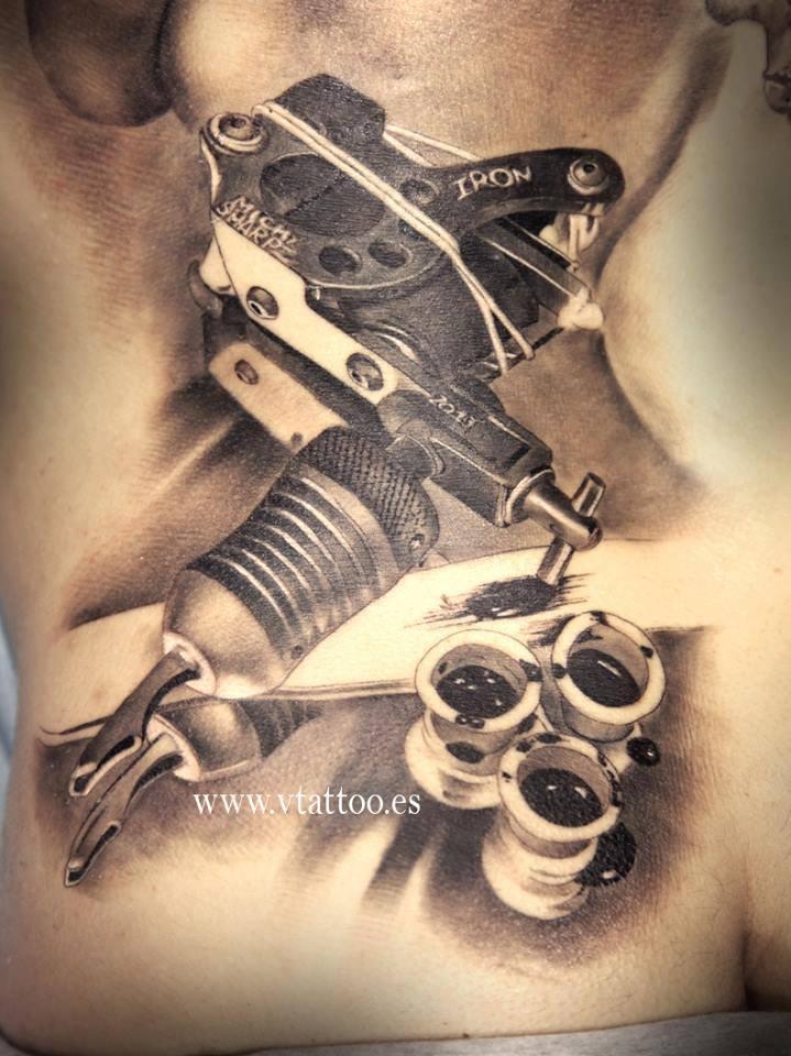3d machine tattoos