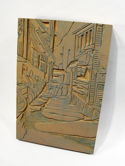 Linoleum block art cake ideas and designs