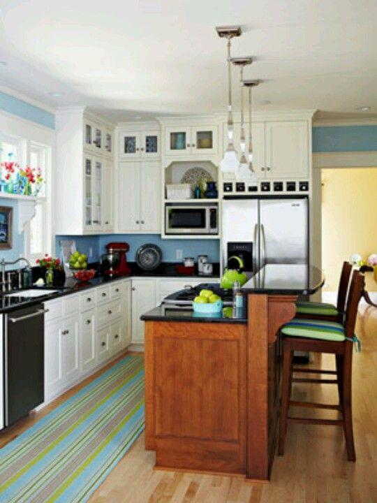 Like the 2 level island kitchen pinterest