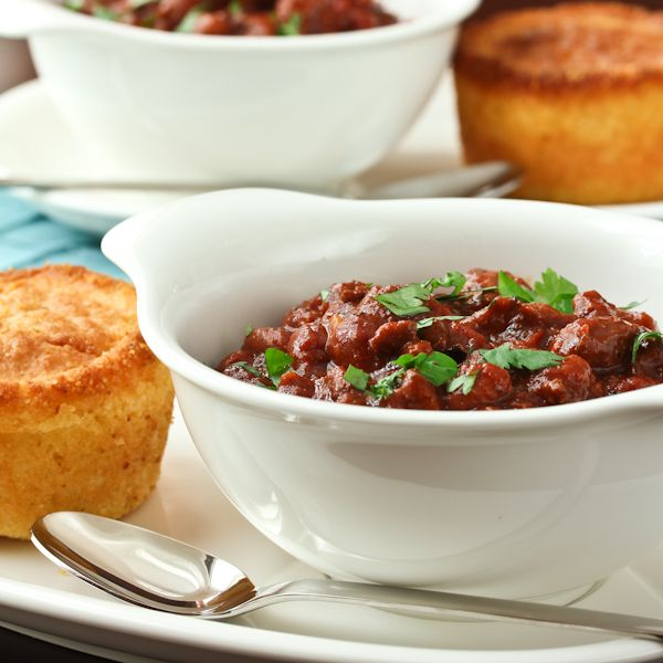 Beer chili recipe via A Spicy Perspective