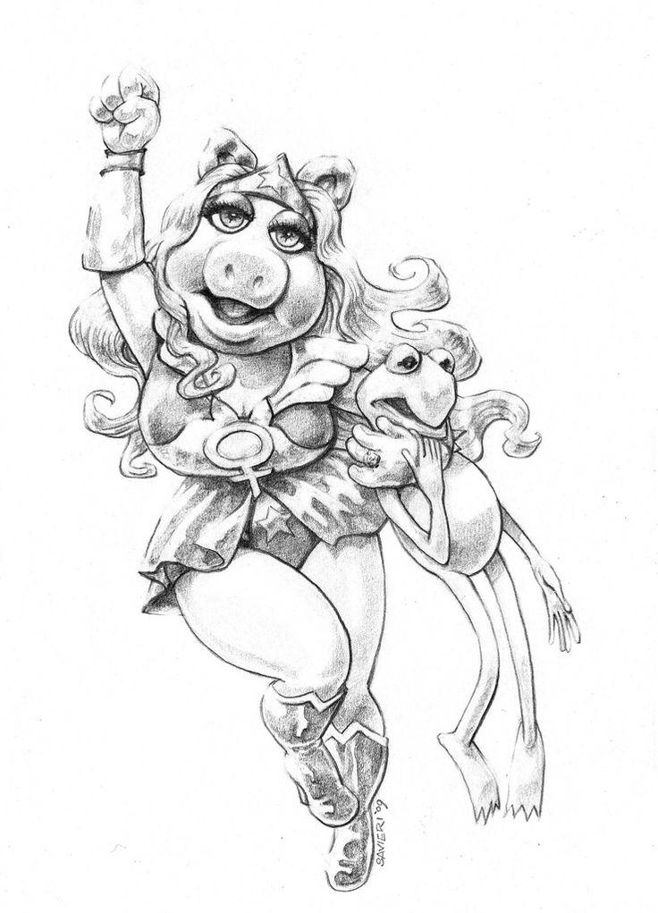 Miss Piggy Drawing