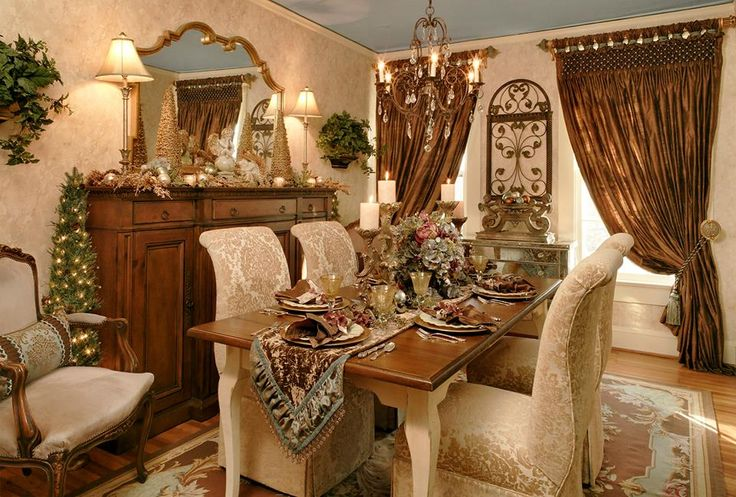 Traditional Romantic Dining Room Dining Spaces And
