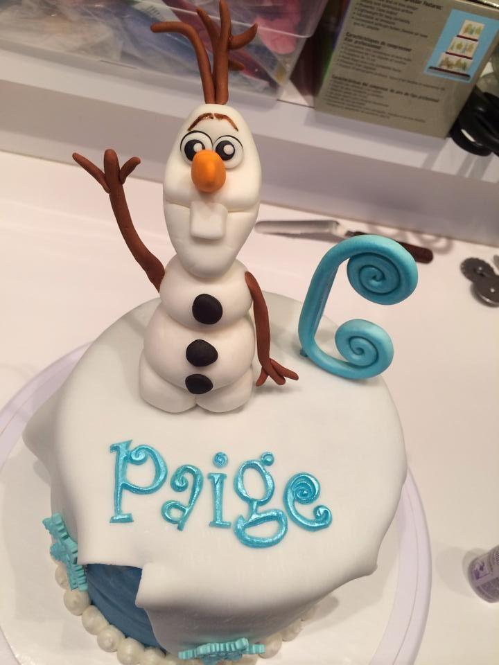Cake Decoration Olaf : Olaf Fondant Cake Topper Party Invitations Ideas