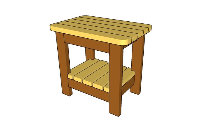 outdoor side table plans diy wood pinterest