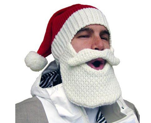 Santa Beard Hat - totally do-able with a cheap hat and cotton, lol ...