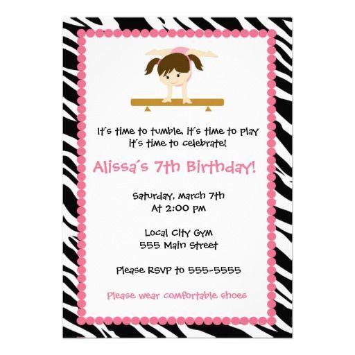 Gymnastics Birthday Party Invitations was adorable invitation design