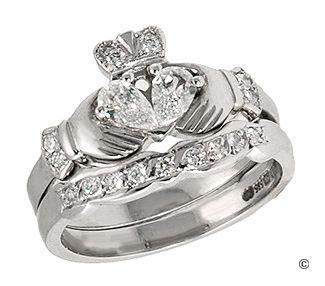 diamond claddagh ring - beautiful