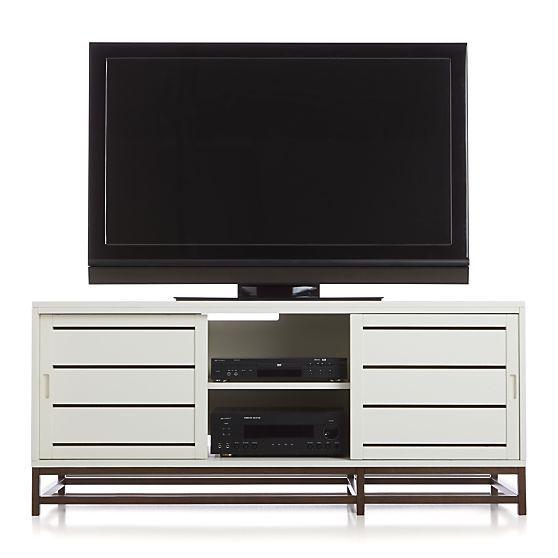 Clapboard white 60 media console White media console