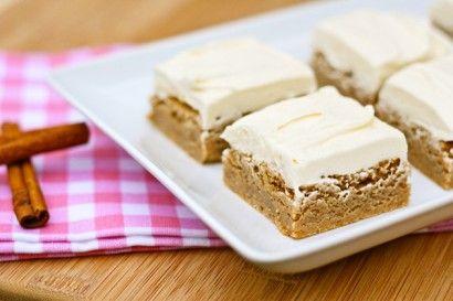 Cinnamon Blondies with Vanilla Buttercream | Tasty Kitchen: A Happy ...