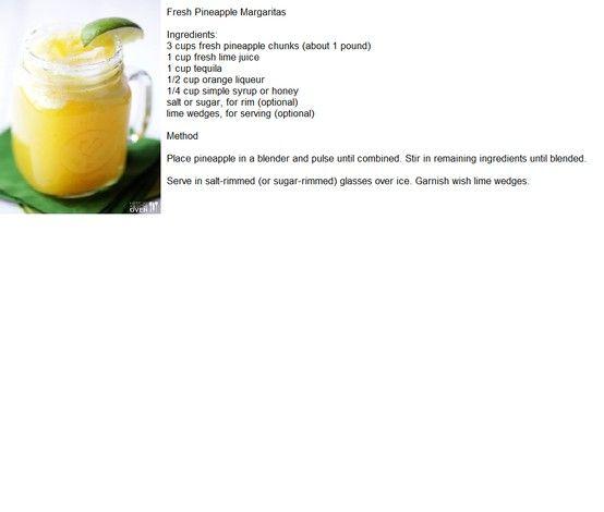 Fresh Pineapple Margaritas   Yum in the Tum   Pinterest
