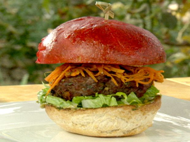 Sweet and Spicy Red Fez Burger with Marrakesh Carrot Salad and ...