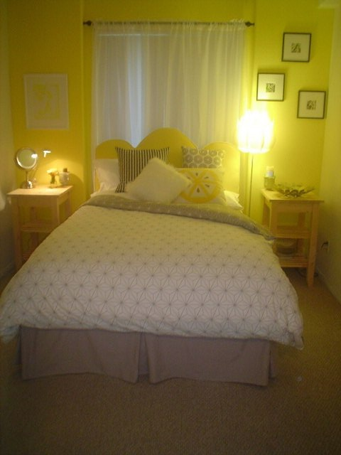 Lemon Yellow Bedroom Design Beach House Designs And