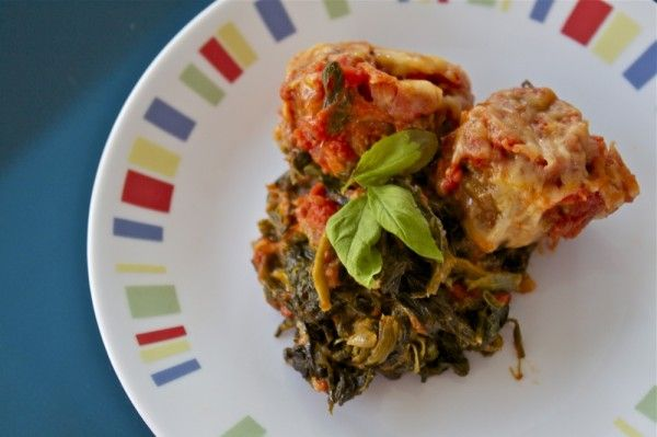Italian Meatballs with creamed spinach | Recipe