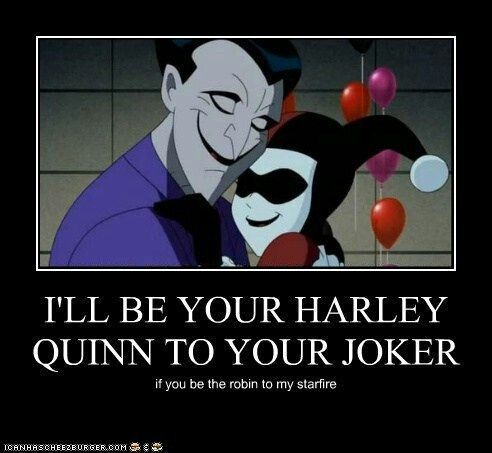 Joker And Harley Love Quotes : Harley and Joker Mad Love Pinterest
