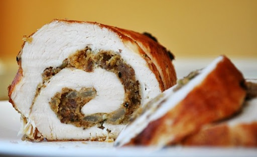 Easy Turkey Roulade With Sausage Stuffing