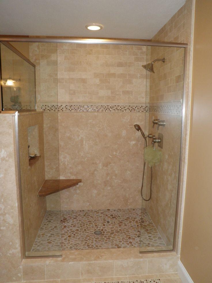 Custom Tile Shower Love The Pebble Floor Tile Pinterest