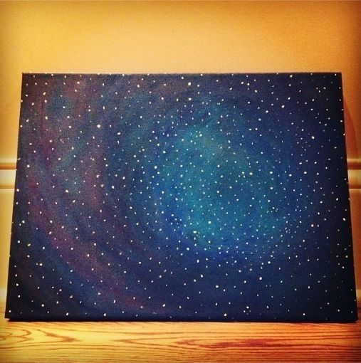 Galaxy painting for How to paint galaxy