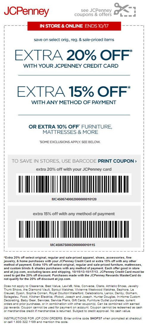 Jcpenney 15 off printable coupon