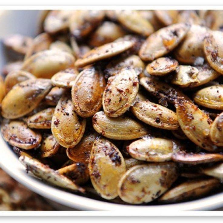 Kickin' Toasted Pumpkin Seeds. | Healthy Snacks | Pinterest