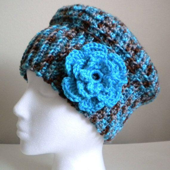 CROCHET HAT PATTERN - Cloche Hat with Flower