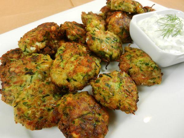 ... Yogurt Dip: Football Foodie Fritters Away (Zucchini, feta and herbs