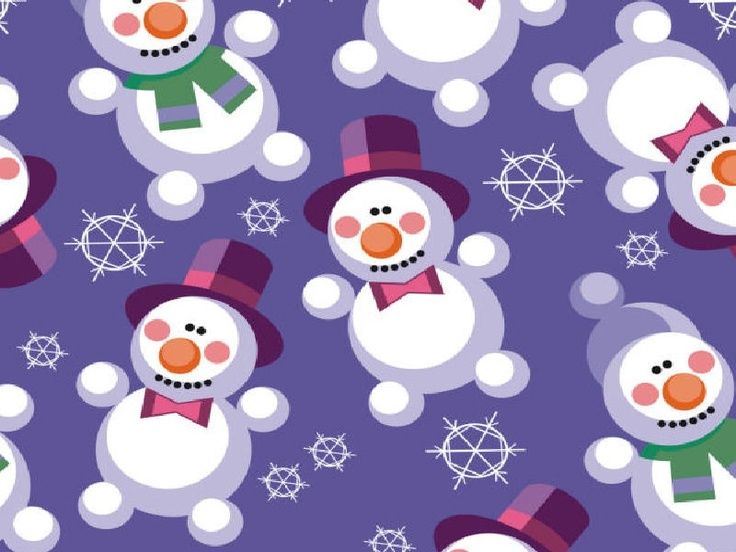 snowman gift wrapping paper