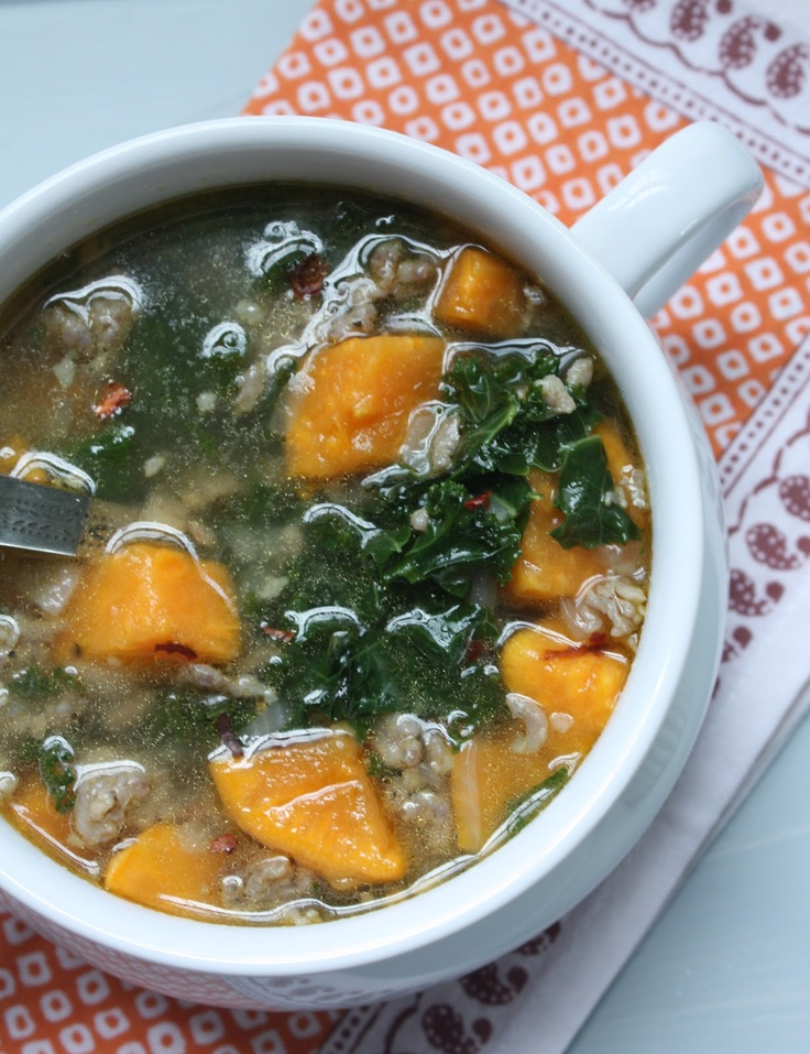 Turkey Sausage, Kale & Pumpkin Soup | Recipe