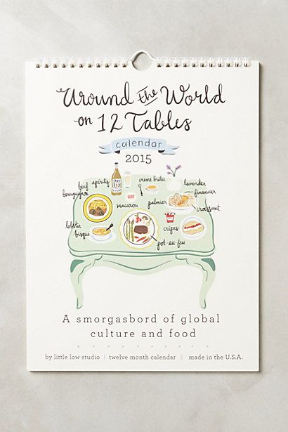 Twelve Tables 2015 Calendar #anthropologie