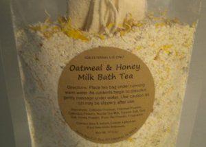 of colloidal oatmeal oatmeal powder calendula flowers and epsom salts ...