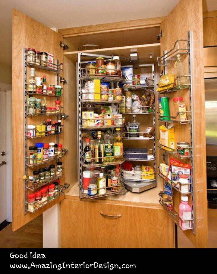 Pantry Cabinet Organized Living Pinterest