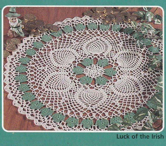 Shamrock Doily Crochet Pattern - Holiday Doilies Booklet ...