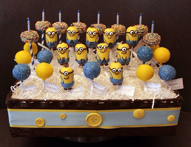 Images Of Minion Cake Pops : Minion cake pops Andrew s Birthday Pinterest