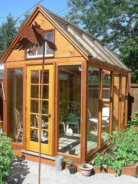 small backyard greenhouse conservatory chicken coop