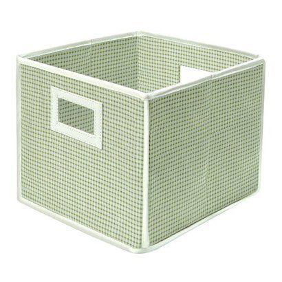 Badger Basket Company Folding Basket and Storage Cube in Sage