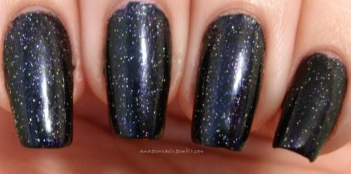Loves Me Not by Sally Hansen and Northern Lights Out The Door holographic top coat