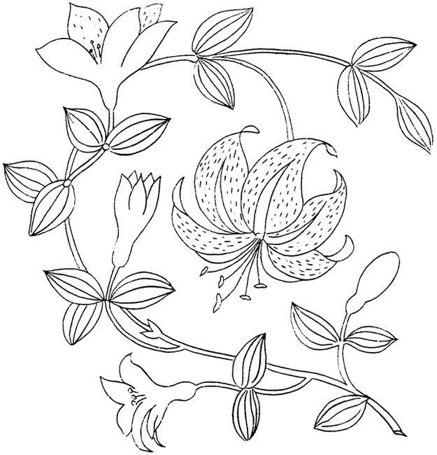 Орнаменты вышивки лентами