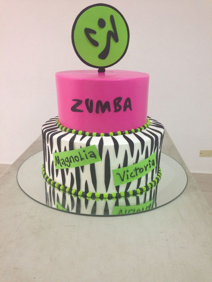 zumba cake ideas