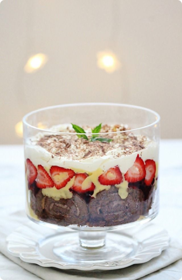 Easy christmas trifle holiday dessert for Christmas recipes desserts easy