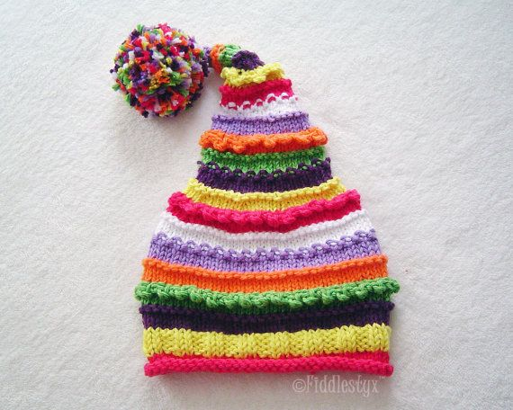 Knitted Stocking Hat Pattern : Knit Hat Knitting Pattern - Stocking Hat Pattern - Knitted Hat Patter?