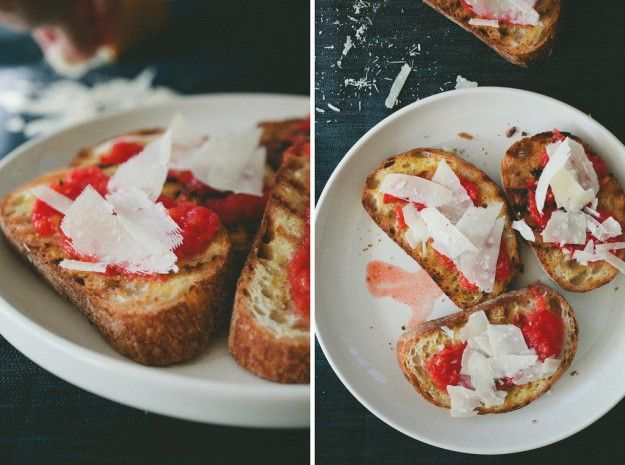 tomato toast with parmesan | banana pancakes | Pinterest