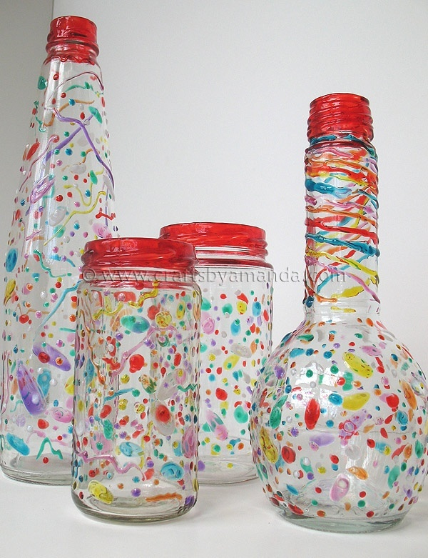 Confetti painted glass jar diy craft ideas pinterest for Crafts to make with glass jars