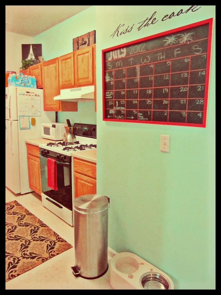 Teal And Red Kitchen Design