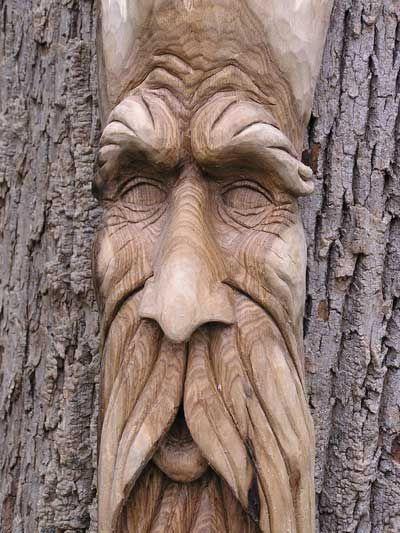 Chainsaw carving wood spirit pinterest