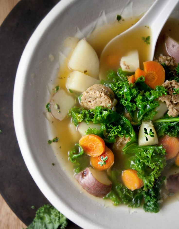 Kale and Red Potato Soup with Grain Sausage | Produce On Parade