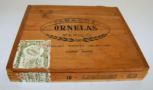 Ornelas Londres Mexico Dovetailed Wood Cigar Box