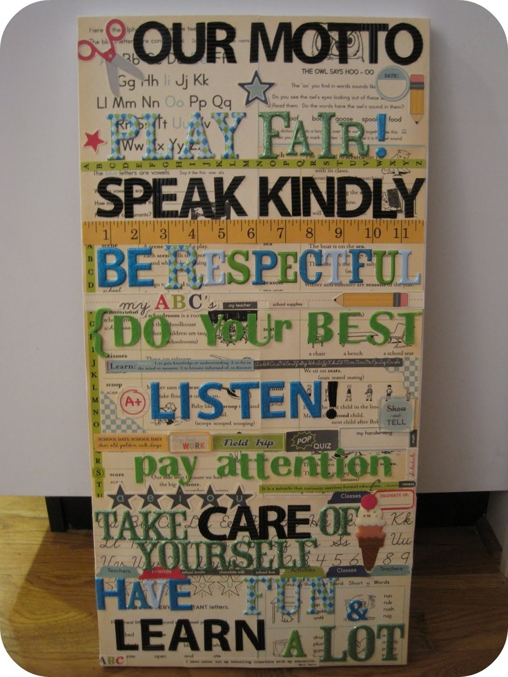 Classroom Motto Ideas ~ Classroom motto craft ideas pinterest