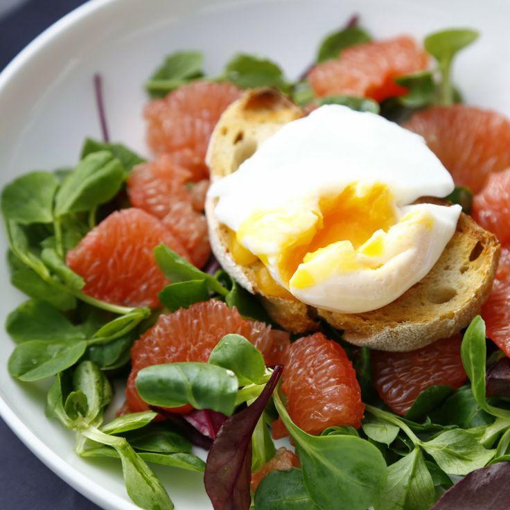 Grapefruit & Poached Egg Salad   Sweet Lemon - Sweet Citrus   Pintere ...