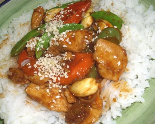 Cashew chicken we used to make in Wolfsburg for the guys for Pre-game ...