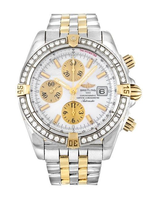 breitling chronomat evolution a13356 mother of pearl